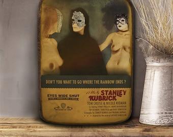 Eyes wide shut, Stanley Kubrick, Wooden plaque