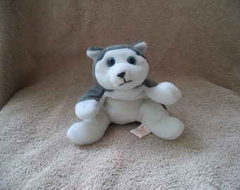 Ty beanie babies  ,Nanook the husky, 1996 Ty beanie babies dog , Stuffed Animal , Stuffed Toy , Stuffed Dog , Husky dog