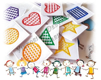 Fabric Memory Game, 12 Memory Cards , Color Matching Game, Kids Educational Toy , Shower Memory Game, Who am i Game, Concentration Game