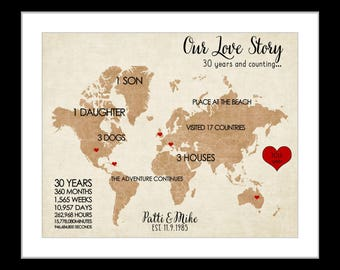2nd anniversary gift 2 year anniversary gift cotton 2nd anniversary art personalized map art cotton 2nd wedding anniversary gift custom gift