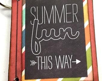 Pre-made Summer Fun Mini Book