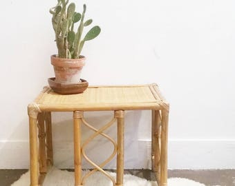 Vintage rattan coffee table