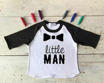 Little Man Toddler Shirt - Little Man - Funny Boy Toddler Shirt - Toddler Boy Little Man - Toddler Boy Birthday Gifts - Baseball Raglan Tee