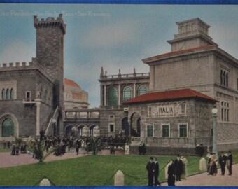 Postcard Italian Pavilion San Francisco California Panama Pacific International Exposition 1915