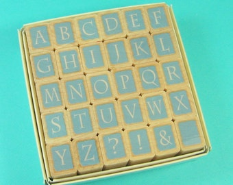Alphabet Rubber Stamps Used Mounted