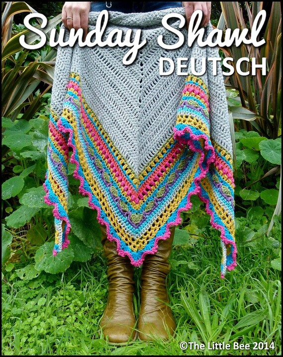 Häkelmuster Sunday Shawl Deutsch