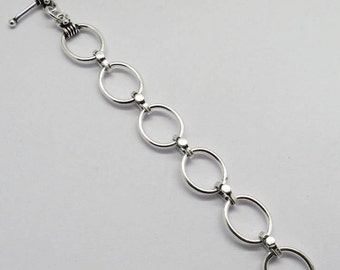 "1 Piece Toggle Clasp Extender Oval Rings 3"" Long"