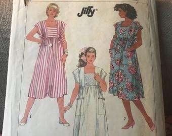 Vintage 80s Simplicity 7965 Maternity Dress Pattern-Size NN 10-18 (32 1/2-38 Bust)