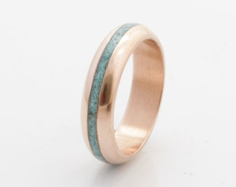 Turquoise Wedding Band copper wedding ring turquoise ring turquoise ring mens wedding band woman ring