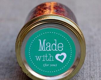 Printable mason jar label - 2.5 inch diameter | Canning jar label