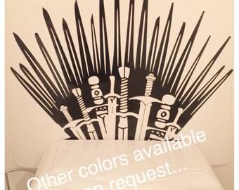 Iron Throne GAME OF THRONES Vinyl Decals toilet wall sticker Home Decor Wrap