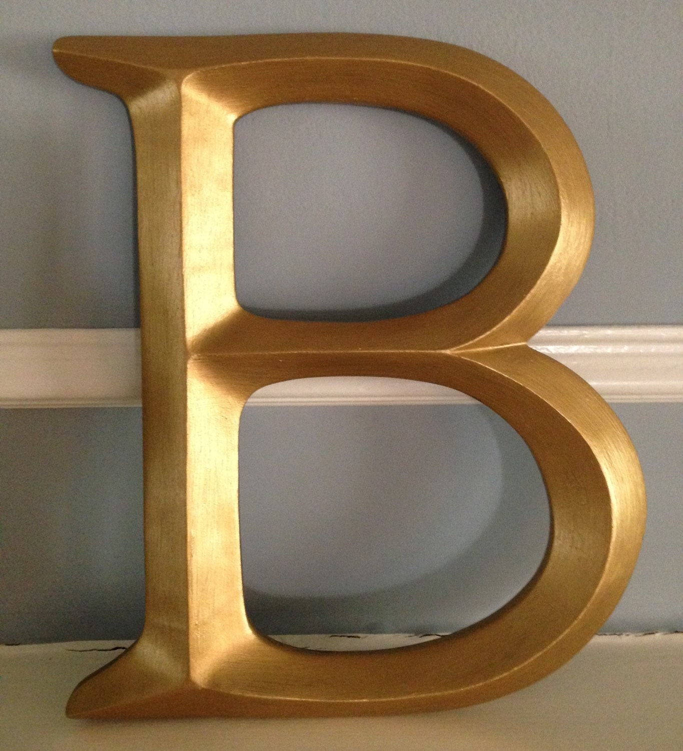 Gold Letters For Wall Large Single Letter Initials Monogram Letter B Gold
