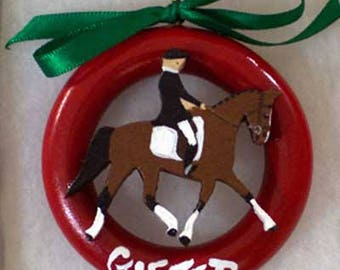 Gifted Dressage Horse Christmas Tree Ring Ornaments