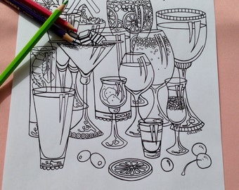 I Need Glasses Adult Coloring Page
