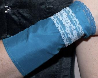 Inventor's Cuffs - Turquoise Blue - Victorian Steampunk
