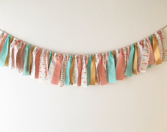 Arrow print fabric garland- fabric strips/ribbon only NO center flag