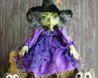 PDF CF266 Fancy Nancy's Hooters Witch Doll Sewing ePattern