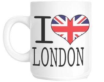 I Love Heart London Union Jack Novelty Gift Mug SHAN147