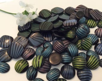 Wholesale lot of 120 Vintage German cabochons in mixed shape and colour