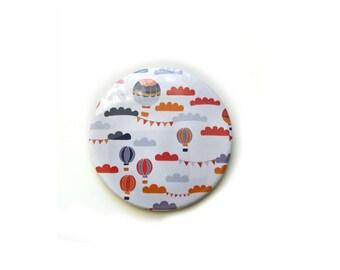 Hot Air Balloon Small Mirrors / Compact Mirror / Makeup Mirrors / Pocket Mirror / Small Decorative Mirror / Travel Mirror / Small Gift Ideas