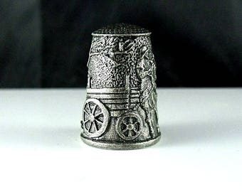 Collectible Thimble - Grimms Fairy Tale Dog and the Sparrow - Limited Edition by Gianni Benvenuti
