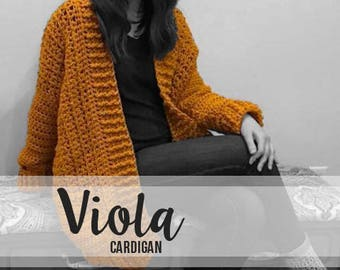 Crochet Pattern // Viola Cardigan (Adult) // Easy