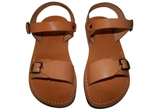 Sandals Flip Sandals Caramel Leather Flop Sandals Jesus Sandals Women Natural Unisex amp; Eclipse Sandals For Men Leather Handmade 7gqU7