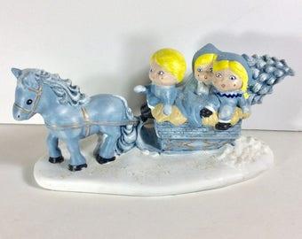 Byron molds1984 sleigh ride music box Silver Bells.