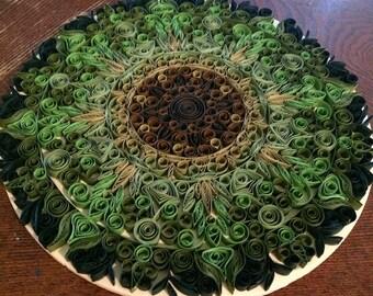 Quilled Leaf Mandala Wall Art
