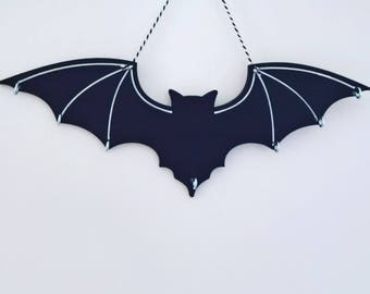 Gothic jewellery, gothic home decor, Necklace hanger, jewellery storage, gothic wall art, bat wall art, gothic gift, gothic plaque, wooden