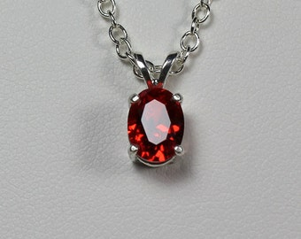 Fire opal pendant etsy mexican fire opal pendant necklace sterling silver lab grown aloadofball Image collections