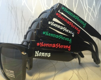 Cancer Awareness customizable sunglasses for awareness/support/cancer walk/survivor walk/cancer awaremess month/remission celebration