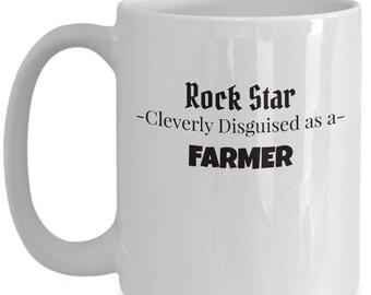 Farmer Coffee Mug | Gift for Agriculture Producer | Farmer Appreciation gift | Large 15oz Coffee Mug