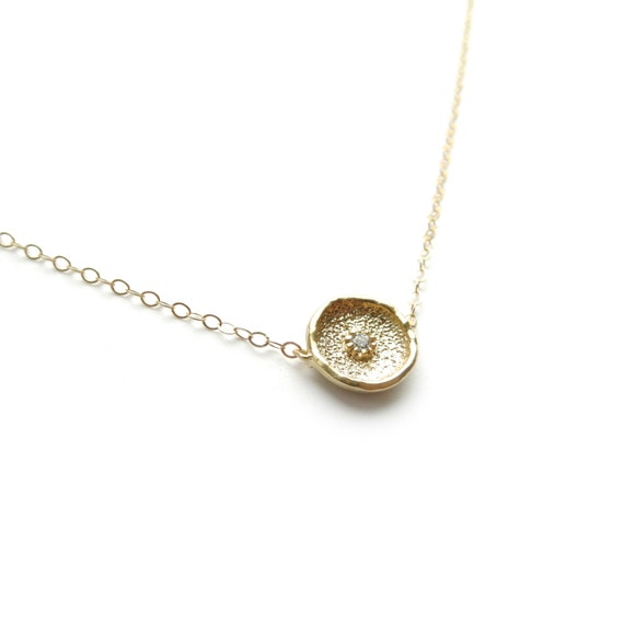 Delicate Gold Coin Necklace