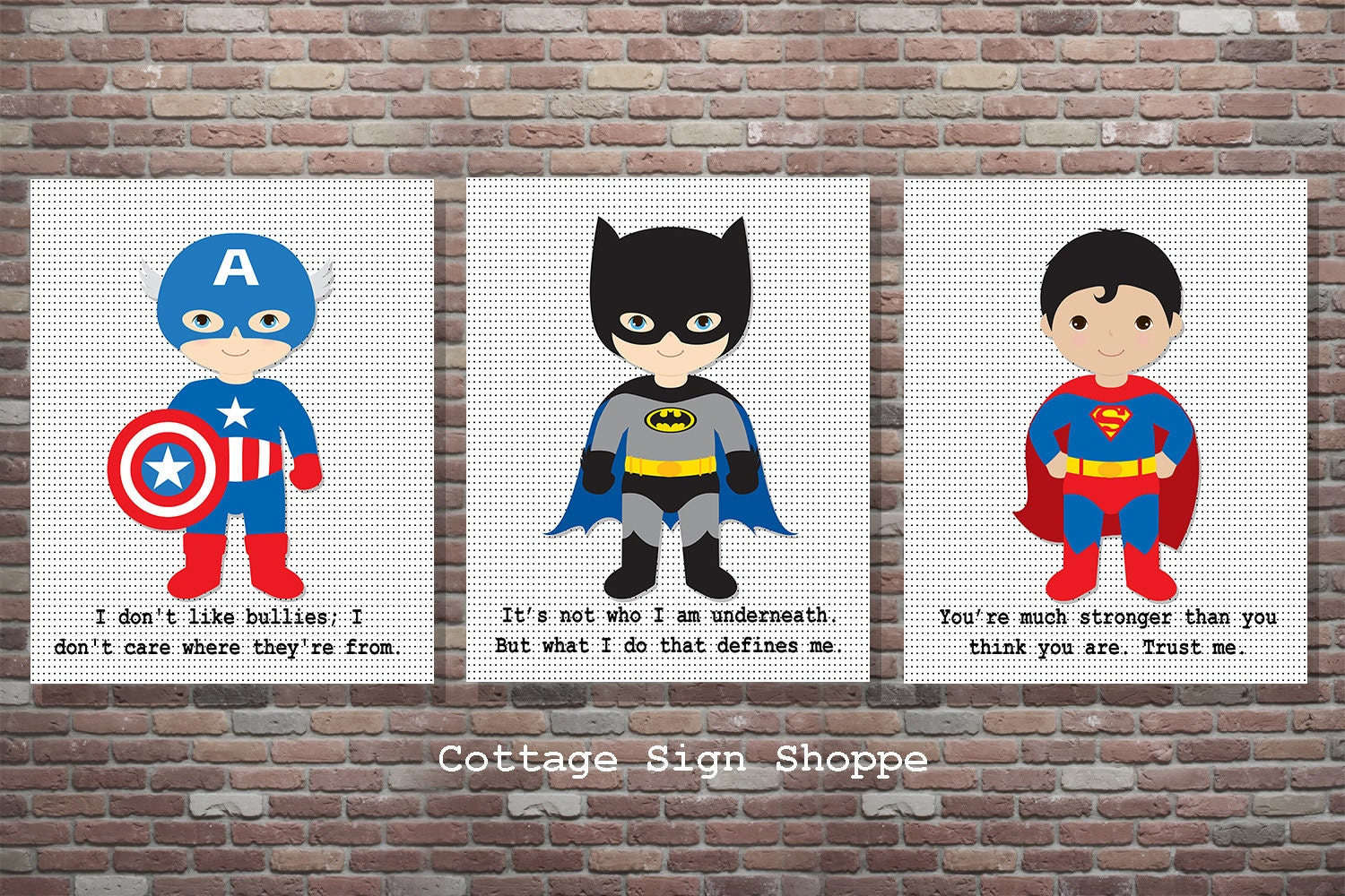 Superhero Decor Superhero Sign Superhero Wall ArtSet