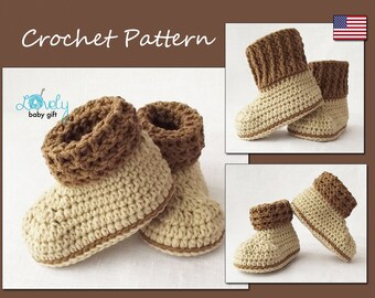 Baby Booties Crochet Pattern, Shoes Crochet Pattern, Instant Download, CP-205