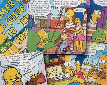 The Simpsons comic book gift tags.
