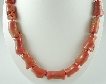 Coral Necklace Peach Coral Necklace Bamboo Coral Necklace Salmon Coral Necklace Chunky Coral Necklace Coral Bead Necklace Salmon Coral