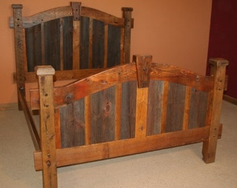 BARN WOOD BED - Arched barnwood bed - Barnwood Bedroom Furniture