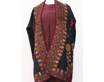 Vintage Turkmen Chyrpy, Tekke False Sleeve Mantle, Turkman, Turkoman Robe