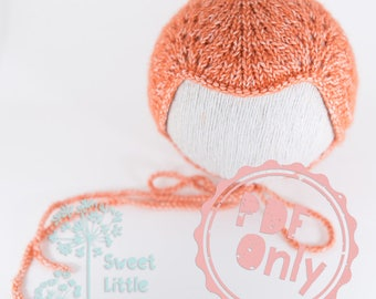 PDF pattern ONLY - Elodie bonnet pattern for newborn size photography prop
