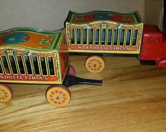 1930s Wyandotte Circus Truck w/ Trailer RARE