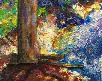 Original Acrylic Abstract Impressionist Painting 10x10 'Roots'