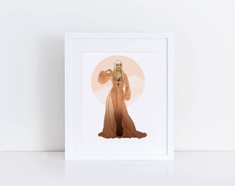 Raja - Peach dream 8x10 print