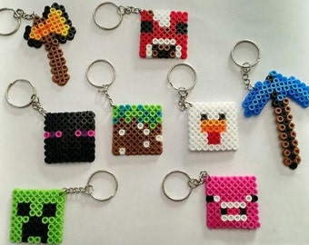 Minecraft party pack - Set of 8 keychains