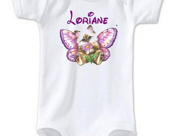 Kitty Butterfly personalized with name Bodysuit