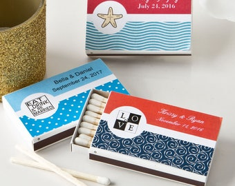 50 Personalized  Matchbox favors - Set of 50