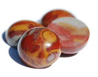 Jasper cabochon, multicolor red, tan,and grey, High dome, Round, Circular shape, 20mm dia., C4406