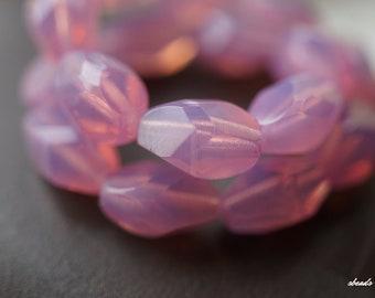 Opalite Pink, Druk Beads, Czech Beads, Beads, D98