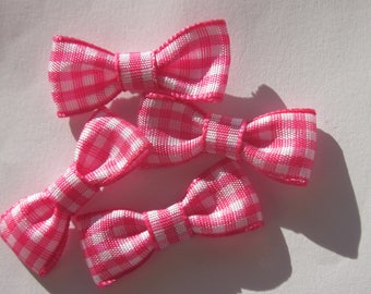 set of 4 bows 33 mm approx - patterned fabric (A171